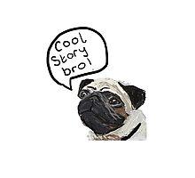 Cool Story Bro Pug Illustration Photographic Print