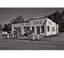 Frank's Echo Service Station Photographic Print