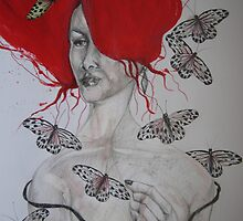 BUTTERFLY LADY by GittiArt