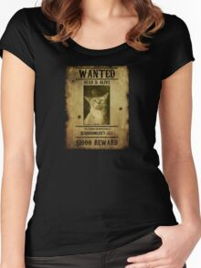 Schrodinger's Cat - Wanted Women's Fitted Scoop T-Shirt