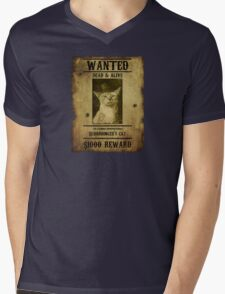 Schrodinger's Cat - Wanted Mens V-Neck T-Shirt