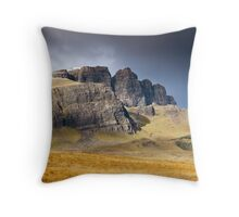 Old Man of Storr, Isle of Skye Throw Pillow