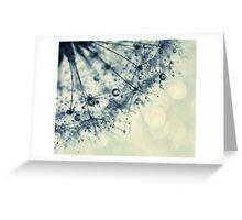 droplets of indigo Greeting Card