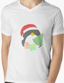 Penguin #1 Mens V-Neck T-Shirt