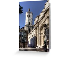 Valladolid Cathedral Tower Greeting Card