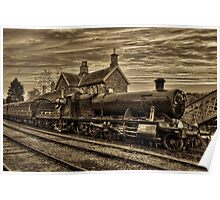 Great Western Railway Engine 2857 - Sepia Version Poster