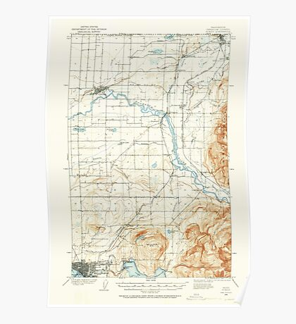 USGS Topo Map Washington State WA Sumas 244107 1906 62500 Poster