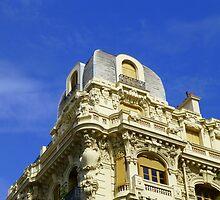 Balconies And Blue Skies by Fara