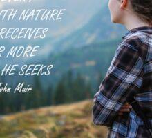 Walk with nature Sticker