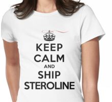 Keep Calm and Ship Steroline (LS) Womens Fitted T-Shirt