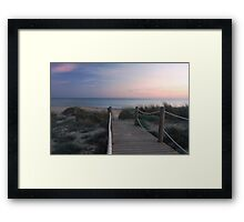 The sun has set Framed Print