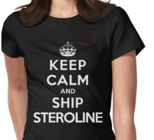 Keep Calm and Ship Steroline (DS) Womens Fitted T-Shirt