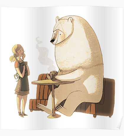 Polar Bear Coffee Break Poster