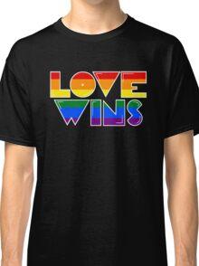 Love Wins Rainbow Gay Homosexual Lesbian Classic T-Shirt