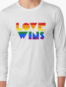 Love Wins Rainbow Gay Homosexual Lesbian Long Sleeve T-Shirt
