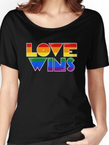 Love Wins Rainbow Gay Homosexual Lesbian Women's Relaxed Fit T-Shirt
