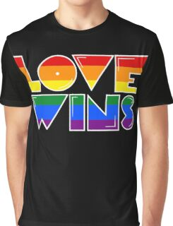 Love Wins Rainbow Gay Homosexual Lesbian Graphic T-Shirt