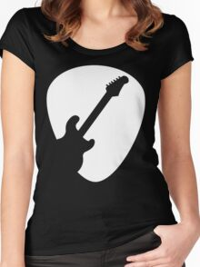 Electric Guitar Pick T Shirt Women's Fitted Scoop T-Shirt