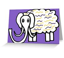 Wooly mammoth cotton candy Greeting Card
