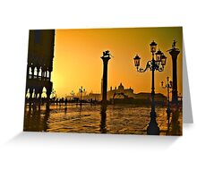 Venice, Italy at sunset  Greeting Card