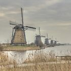The famous mills of Kinderdijk (Holland) by Thea 65