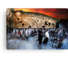 Wailing Wall, Old City, Jerusalem, Israel  Canvas Print