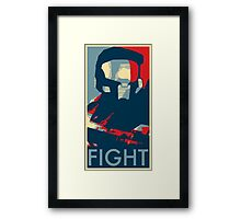 FIGHT - Halo Campaign Framed Print