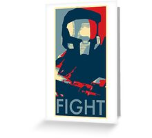 FIGHT - Halo Campaign Greeting Card