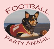 Football Party Animal Baby Tee