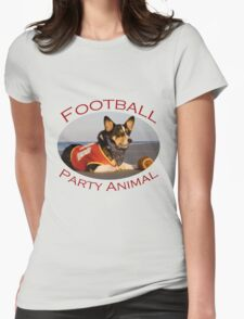 Football Party Animal Womens Fitted T-Shirt