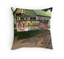 Boxing Smoker Throw Pillow