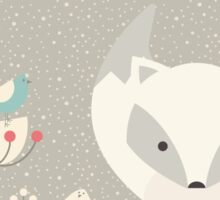 Christmas baby fox 04 Sticker