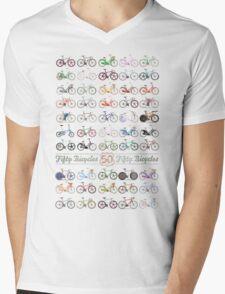 Fifty Bicycles Mens V-Neck T-Shirt