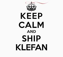 Keep Calm and Ship Klefan (LS) Womens Fitted T-Shirt