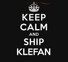 Keep Calm and Ship Klefan (DS) Womens Fitted T-Shirt