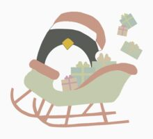 Penguin in Sleigh #1 Kids Clothes