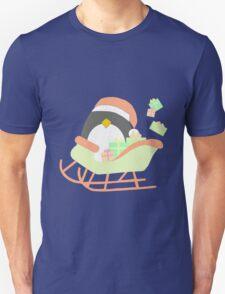 Penguin in Sleigh #1 T-Shirt