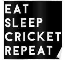 Eat Sleep Cricket Repeat Poster