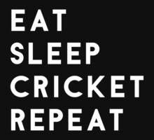 Eat Sleep Cricket Repeat Kids Tee