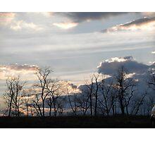 Beatiful Winter Sun Set Photographic Print