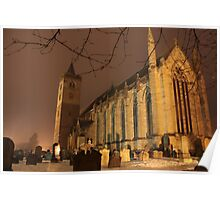 Dunblane Cathedral in the snow. Poster