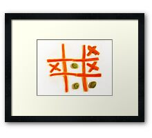 The carrots are cooked. Framed Print
