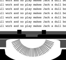 The Shining Minimalist Print  Sticker