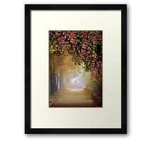 Stroll In The Fog Framed Print