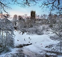 Sledging at St Mary's by Chris Beesley
