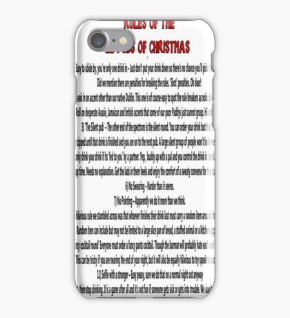 twelve rules to the twelve pubs/bars of christmas iPhone Case/Skin