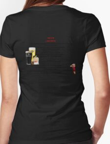 twelve rules to the twelve pubs/bars of christmas Womens Fitted T-Shirt