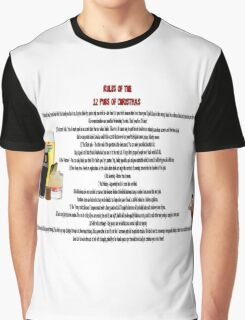 twelve rules to the twelve pubs/bars of christmas Graphic T-Shirt