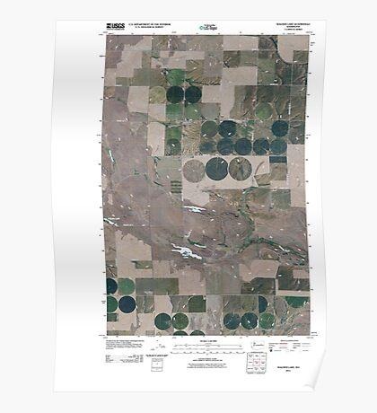 USGS Topo Map Washington State WA Wagner Lake 20110401 TM Poster