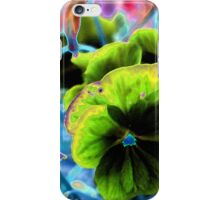 Green Pansies iPhone Case/Skin